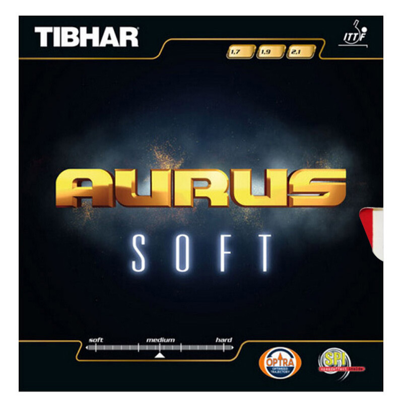 TIBHAR Table Tennis Rubber AURUS SOFT Germany Fast Attack Loop Pimples In With Sponge Ping Pong Tenis De Mesa