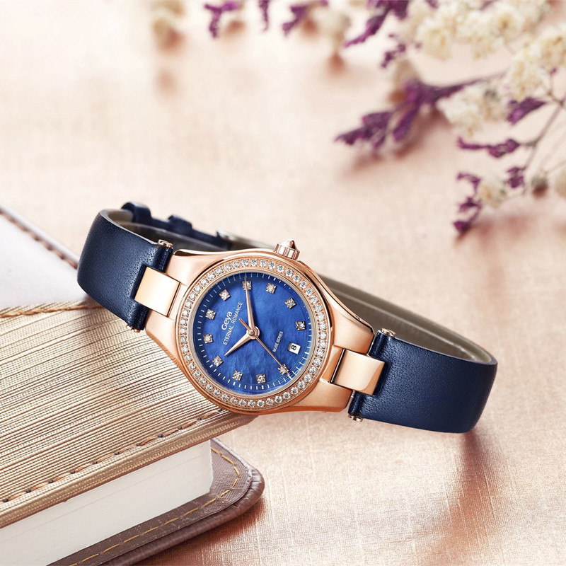 Women Watches Geya Fashioh Leather Strap Top Brand Luxury Ladies Quartz Clock Female Bracelet Wrist blue Watch Montres Femmes купить