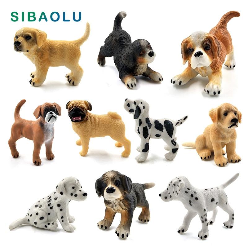 Simulation Mini hound dalmatian pug dog miniature figurine animal Model home decor fairy garden decoration accessories modern figurine