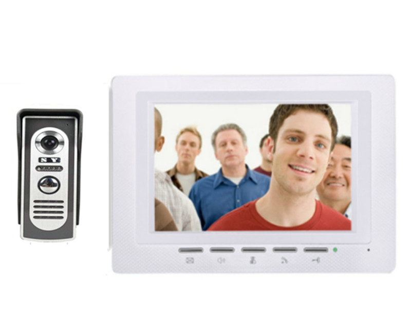7 Inch Metal Case Camera Intercom Video Door Phone