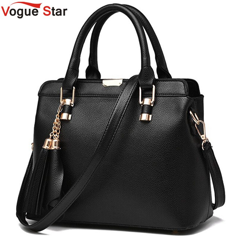 Vogue Star New 2017 Casual Women Shoulder Bag Leather Fashion Medium Women Leather Handbags Famous Brand