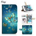 Batianda Magic Butterfly Pattern Case For iphone 6s / 6 6G Book Style Wallet Stand Phone Cover Credit Card Slots Function