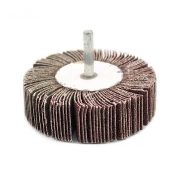 2 PC sand paper polishing wheel 6 x 80mm abrasive mops-wheel spindle mops mounted flap wheels grinding bits abrasive block