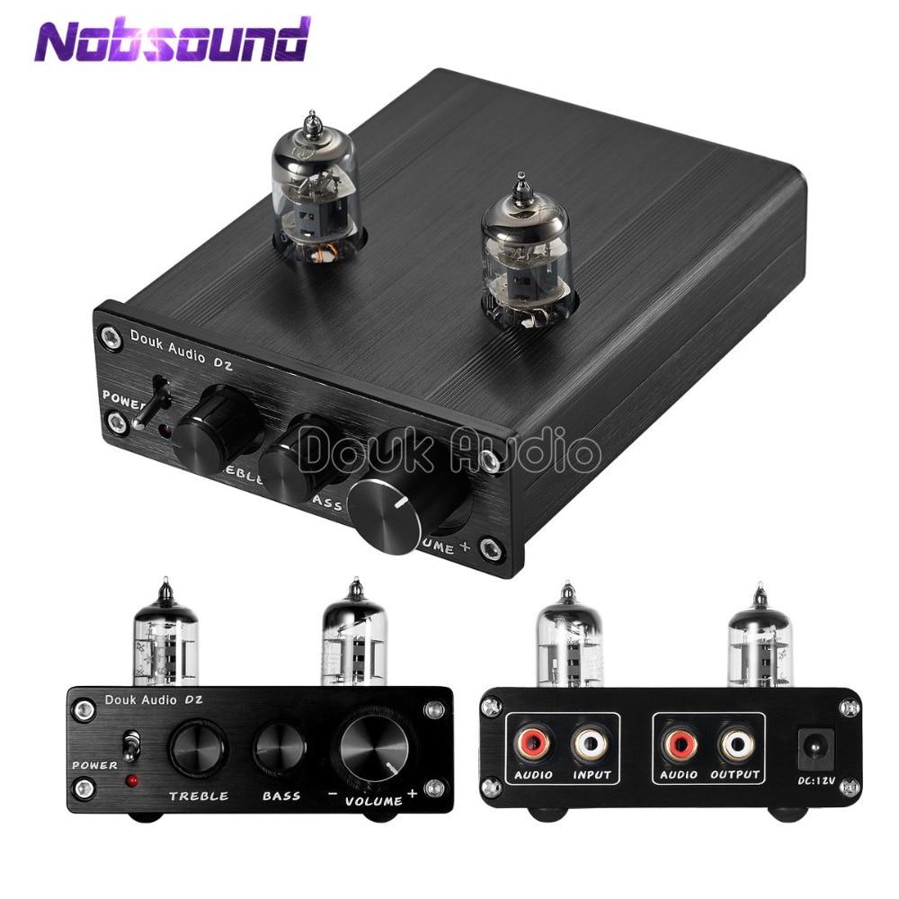 2018 Lastest Nobsound HiFi 6J2 Vacuum Tube Preamp Stereo Tube Preamplifier Digital With Treble Bass Tone