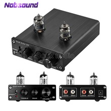 Nobsound HiFi 6J2 Vacuum Tube Preamp Stereo Tube Preamplifier  Digital With Treble&Bass Tone Control