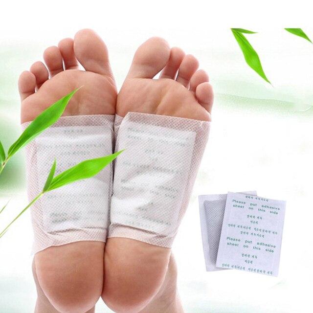 10 piezas de desintoxicación pie parche de hierbas naturales de limpieza almohadillas de pie máscara mantiene en forma de masaje de pies alfombras para el cuidado de la salud los pies