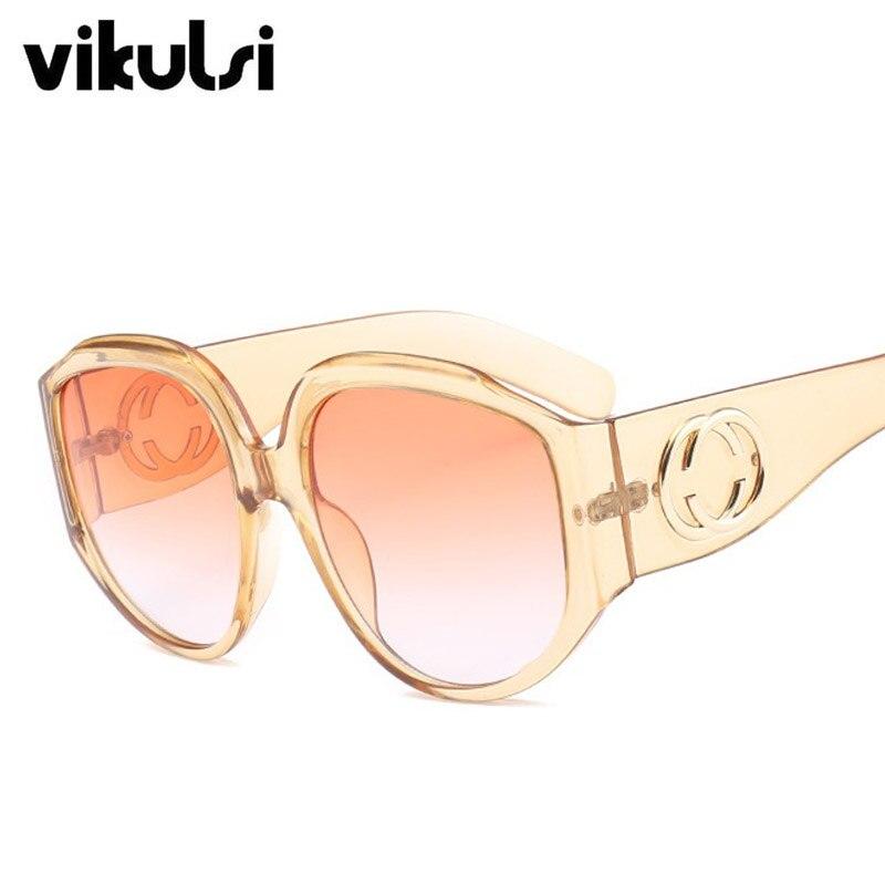 2018 Neue Runde Sonnenbrille Frauen Männer Ozean Rot Blau Braun Marke Sonnenbrille Weibliche Übergroßen Brillen Lunettes De Soleil Uv400 Verhindern, Dass Haare Vergrau Werden Und Helfen, Den Teint Zu Erhalten