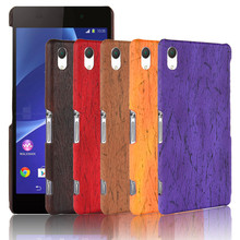 For Sony Z 2 Z2 D6502 D6503 Case Wood Pattern Hard PC+PU Leather Back Cover Hard Phone Case for Sony Xperia Z2 D6543 L50 L50w nillkin tempered glass back cover protector film for sony xperia z2 l50 h