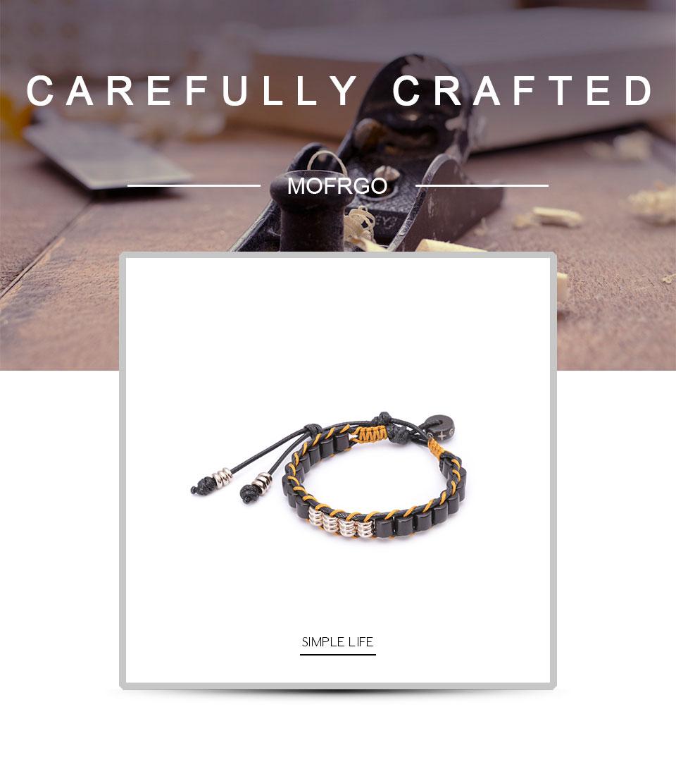 Плетеный браслет ручной работы для влюбленных из вощеной веревки
