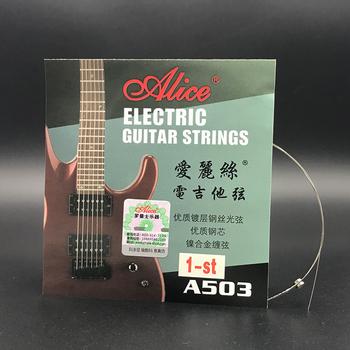 Alicja gitara elektryczna ciąg A503 A503SL 009 cal 23mm 1 1st wysokiej E po raz pierwszy ciąg dla gitara elektryczna nowy tanie i dobre opinie IFUNPLAY Struny A503SL-1st Alice A503 Electric Guitar Strings Drop shipping