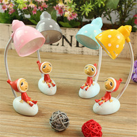 Lovely Desk Table Lamp Gift For Children Cartoon Shape Dream Girl Mini Flexible LED Book Light