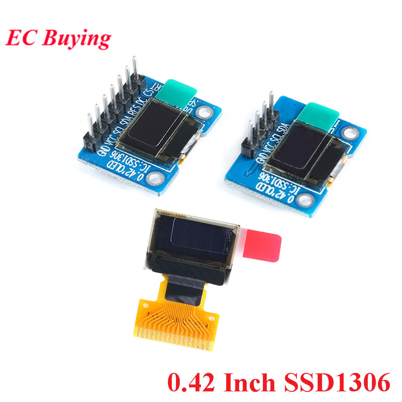 0.42 Inch SSD1306 OLED Display Screen LCD Module White IIC/SPI Interface LCD Display Module 72*40