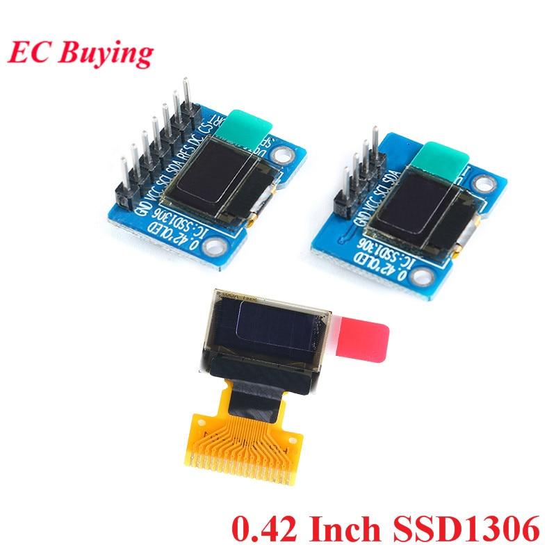 0.42 Inch SSD1306 OLED Display Screen LCD Module White IIC/SPI Interface LCD Display Module 72*40