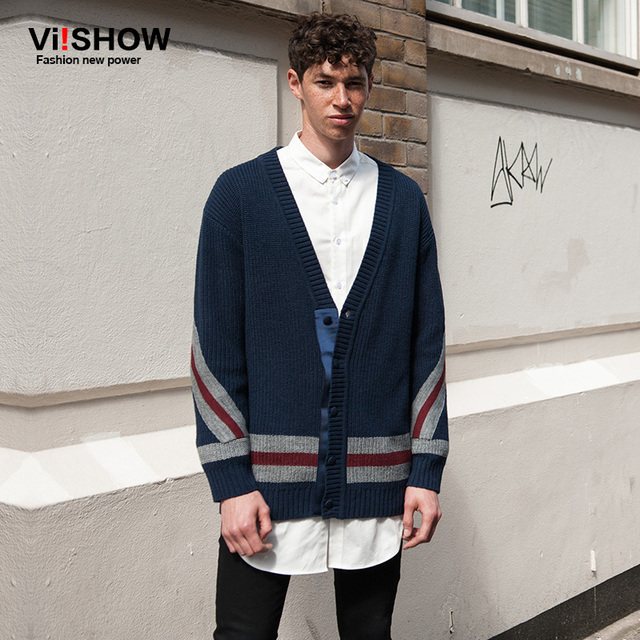 VIISHOW pull homme sweaters mens cardigan sweater long cardigan ...