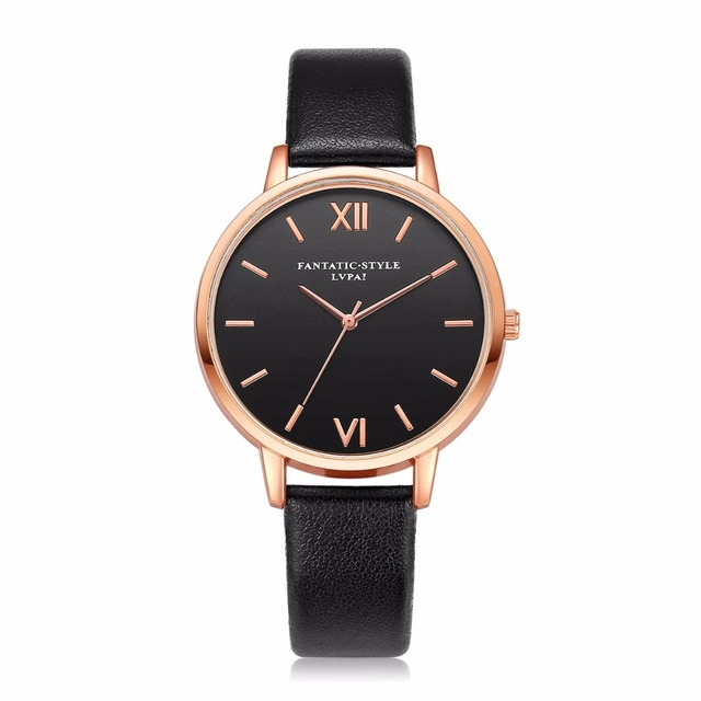 2018 Lvpai Brand Leather Watches Women Casual Classic Quartz Wristwatches Ladies