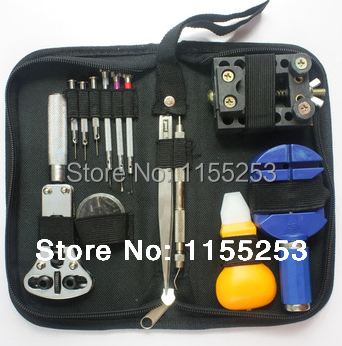 13PCS Free shipping Practical table tool watch repair tool kit clock kit strap down the bottom opener 147 pcs portable professional watch repair tool kit set solid hammer spring bar remover watchmaker tools watch adjustment