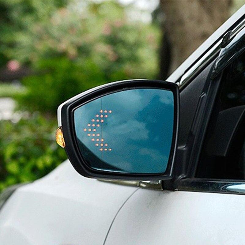 Lunettes de rétroviseur latérales à grand Angle de vue bleu chauffant pour Ford Kuga 2013-2016
