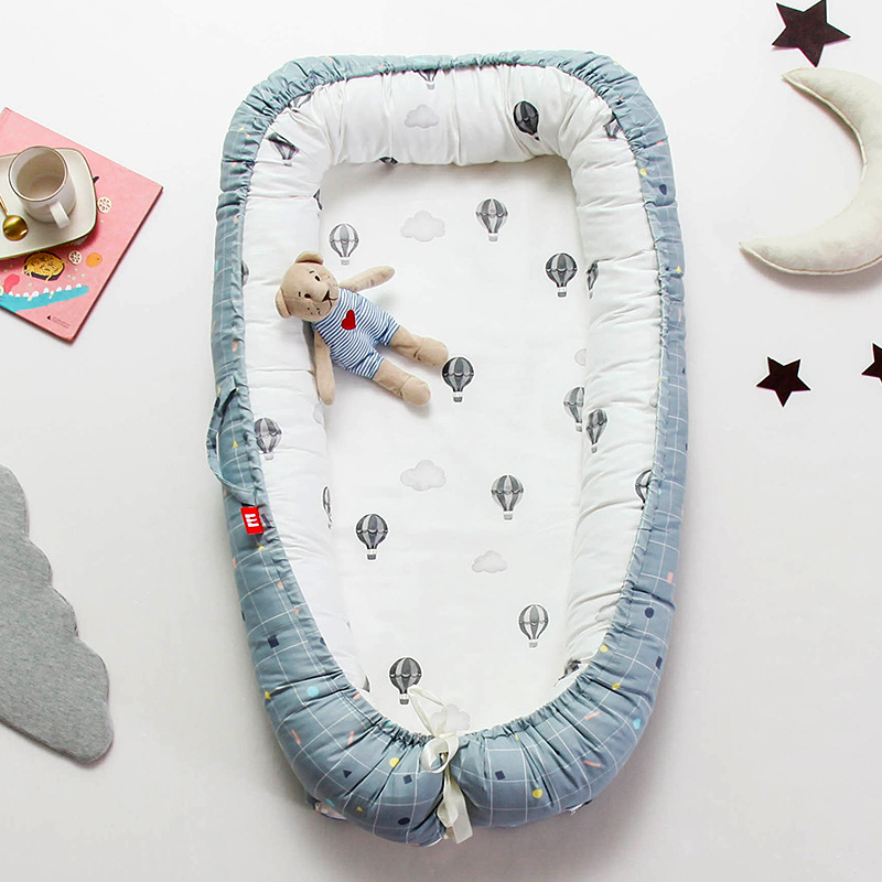 Cotton Portable Baby Carry Cot Travel crib foldable Bed Removable Sleeper Nest Disassemble Machine Wash moses