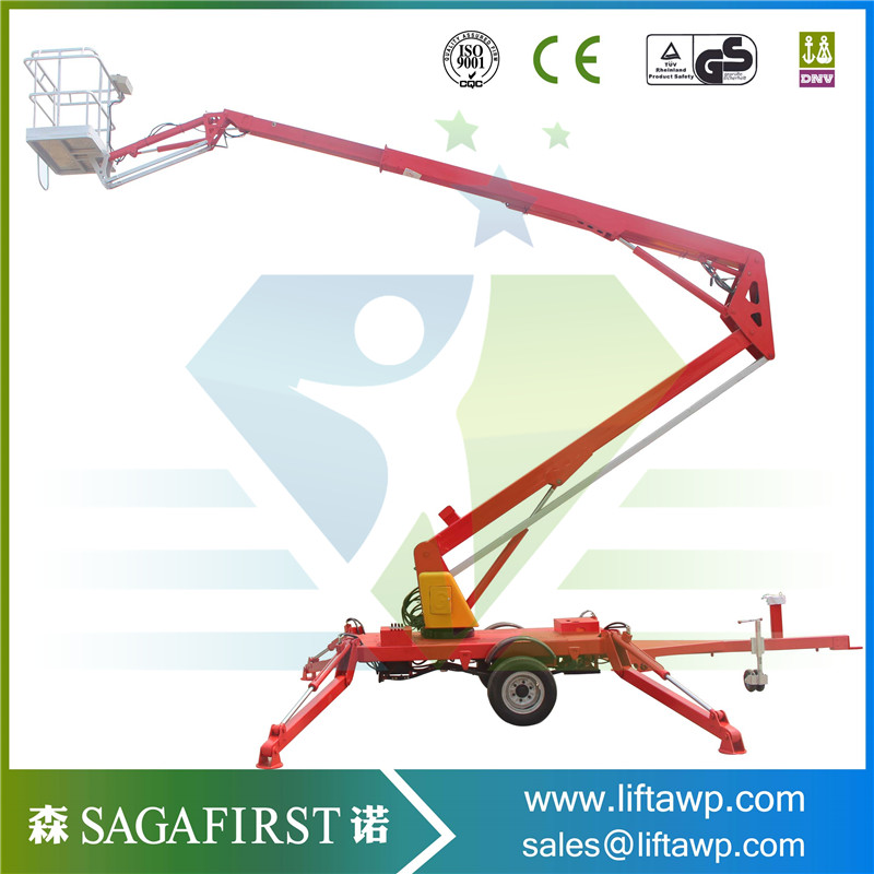 New Condition Durable Hydraulic Pickup Truck Small Boom Lift