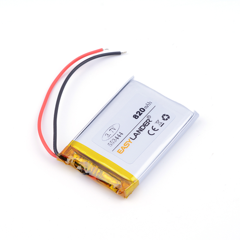 553444 820mah 3.7V lithium rechargeable battery Dual handsome lithium polymer battery MP3 MP4 MP5 small toys medical device ...