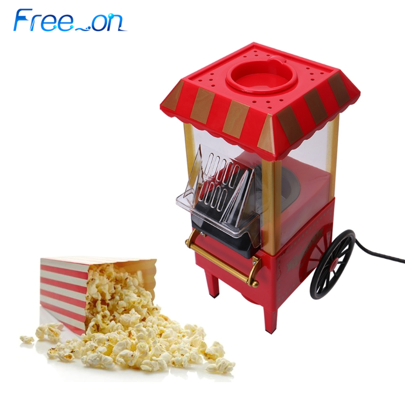 220V Useful Vintage Retro Electric Popcorn Popper Machine Home Party Tool