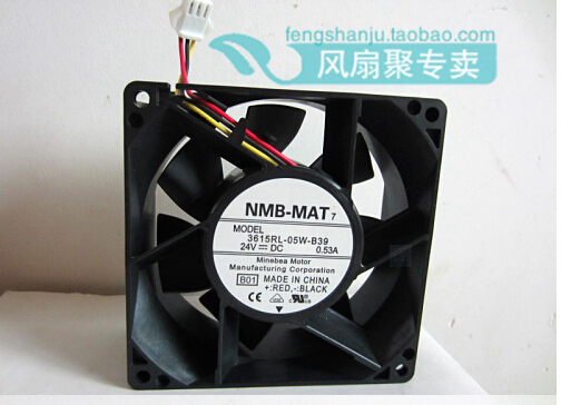 New original NMB 9cm9038 3615RL-05W-B39 24V0.53A 92*92*38MM large volume inverter fan гирлянда с насадками richled 3x0 7 м rl psf3 0 7c w b
