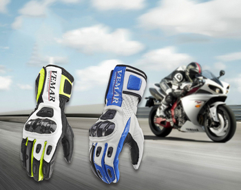 Pair Carbon Fiber Cycling Gloves Breathable Anti-slip Full Finger Gloves Touch Screen Motorcycle Bicycle Bike Hiking Skating