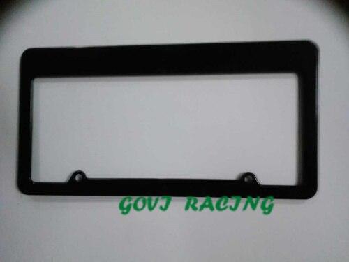 crni okvir registarske tablice automobila ABS držač registarske - Vanjska auto oprema - Foto 2