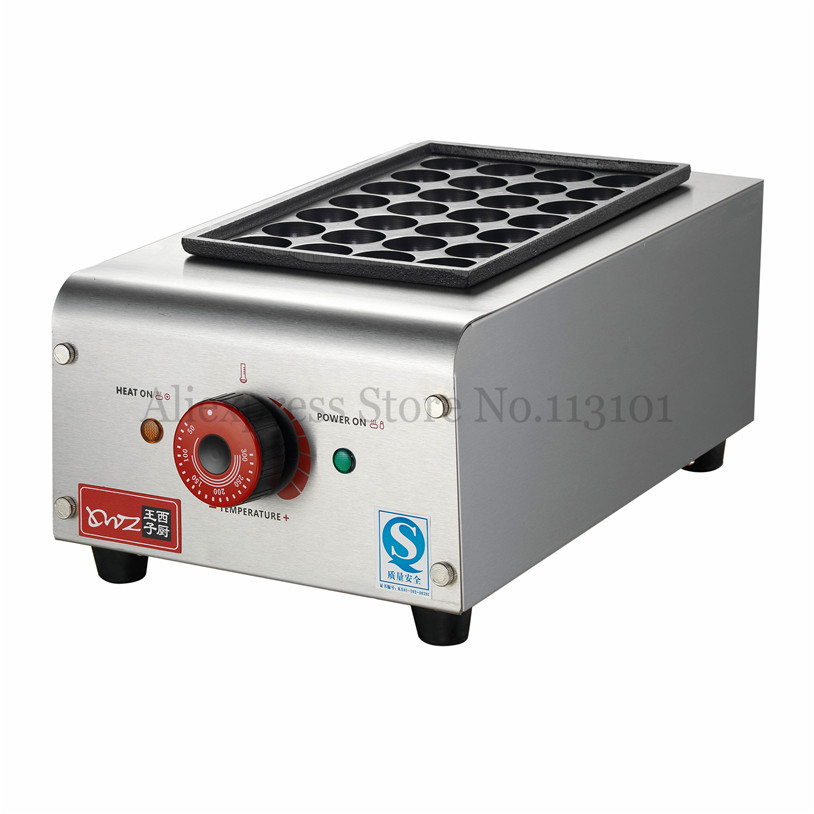 Commercial TAKOYAKI Grill Octopus Cake Maker Fried Octopus Dumplings Cooking Machine Nonstick 28 Holes or 18 Holes