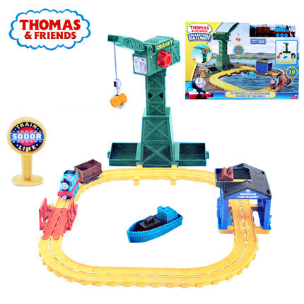 Original Thomas and Friends the Blanche at the dock Railway Track model Boy Gift Model Car Toys For truck toy diecast cars