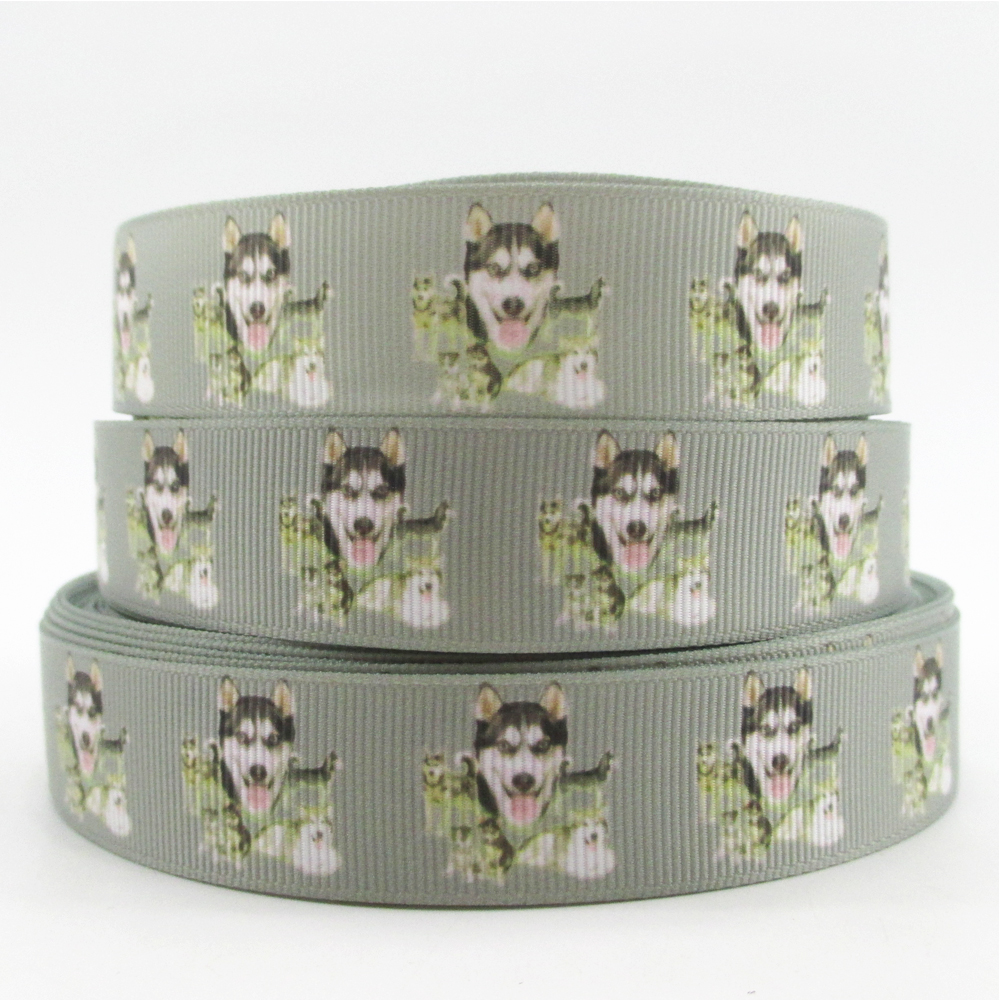 Dog High Quality Printed Polyester Ribbon 5 Yards,diy Handmade Materials,wedding Gift Wrap,5y50752 5yds Per Roll 7/8 22mm Amicable