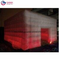 7*7*4 м коммерческие надувные игрушки палатки свет шатер открытый гигантские надувные cube тент Для свадебной вечеринки