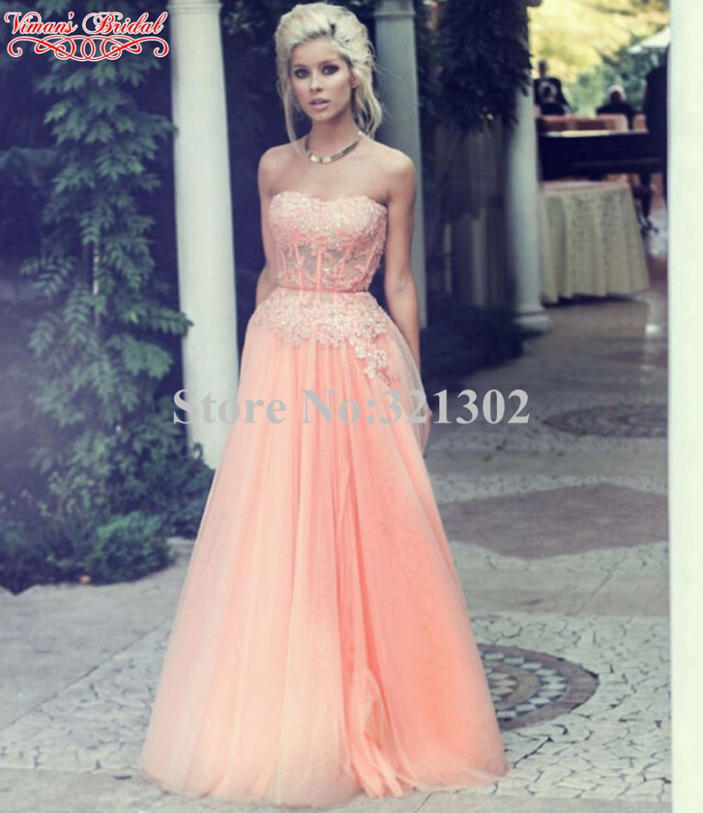 Aliexpress Com Buy Simple Elegant See Through Lace Part: Long A Line Tulle Lace Sweetheart See Through Top Part