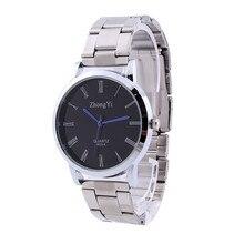 Brand Fashion Watch Man Women Couple Stainless Steel clock Analog Quartz Wrist Watch montre femme