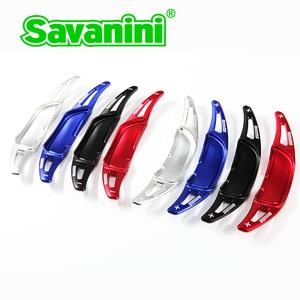 Image 3 - Savanini palas de cambio de marchas para volante de coche, de aluminio, extensión para Benz New AMG G63 C63 S63 GLA45 2013 2019