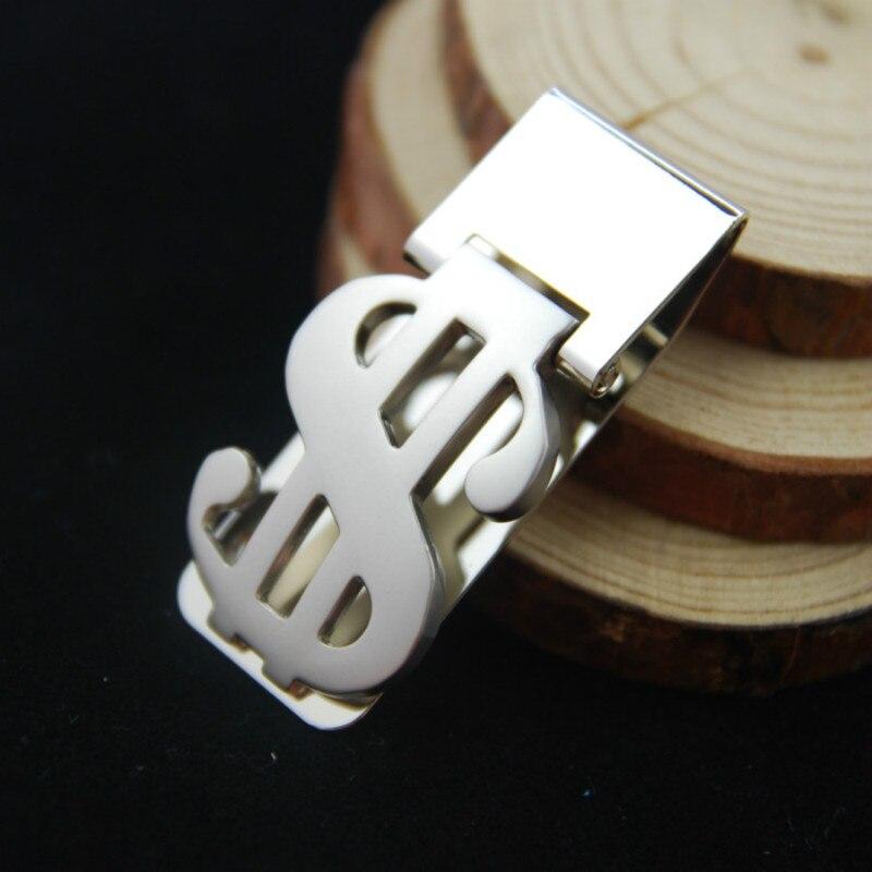 2018 aleación de Zinc de acero inoxidable fino, de bolsillo los hombres novela de diseño billetera con Clip para billetes de dinero en efectivo tarjeta de dólar Metal Bill abrazadera