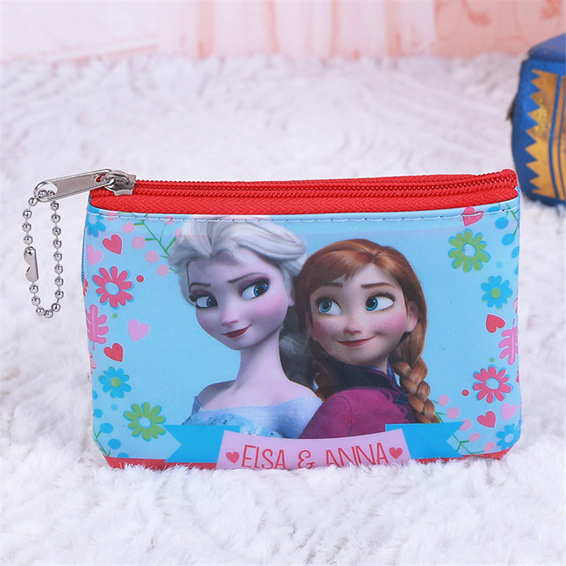 Disney Princess Frozen Cartoon Spiderman Children's Purse Coin Girl Boy Gift Bag For Storage Elsa Wallet Clutch Pendant