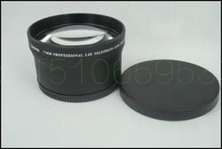 77mm 2.0X TELE teleobiektyw do aparatu cyfrowego 2X77 czarny