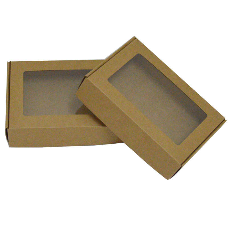 SuLaLin 10pcs Black Kraft Paper Box Packaging White Craft Small Boxes For Gifts Wedding Cardboard Box Candy box Packing