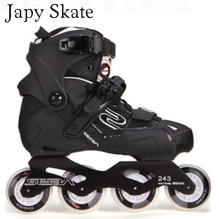 Japy Skate Original SEBA GT 80 Professional Adult Inline Skates Roller Skating Shoes Slalom Sliding Free Skating Patines professional adjustable adult sliding slalom inline skates shoes roller skating shoes roller skate shoes with shinning wheel