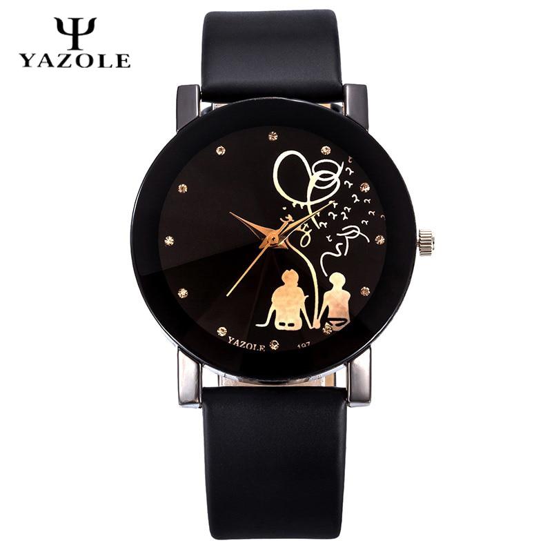 Yazole reloj del amante mujeres hombres relojes 2017 reloj de cuarzo famoso  reloj de mujer de los hombres reloj reloj Mujer 39757da142a
