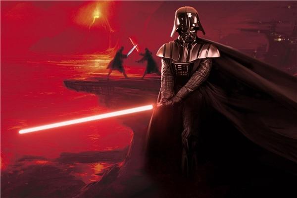 SW Movie Star Wars Poster Lightsaber Mural Darth Vader Sith Sticker Custom Wallpaper Star Wars Wall Stickers Home Decor#PN#1116#