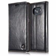 Caseme 03 Роскошный кожаный флип чехол для Samsung Galaxy S7 edge чехол книжка кожаный чехол для Samsung Galaxy S7 S6 Чехол Coque Fundas