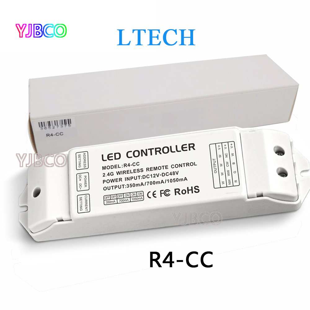 R4-CC Zone courant constant récepteur DMX512 décodeur conduit par la contrôleur DMX signal pilote 2.4G sans fil led gradateur