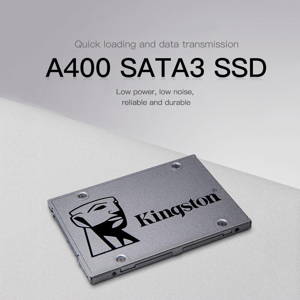 Kingston SSD Disque Dur 120 gb 240 gb 480 gb SATA3 SSD 120 gb 2.5 Lecteur à État Solide Mémoire carte Disque Dur Hd SSD A400 Notebook PC