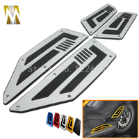 1 Set Front And Rear Motorcycle Foot Pegs Silver Footrest Step Motorbike Pedals Foot Pegs For