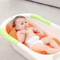 Baby shower portable air cushion baby bed baby bath pad non slip safety mat for newborn baby