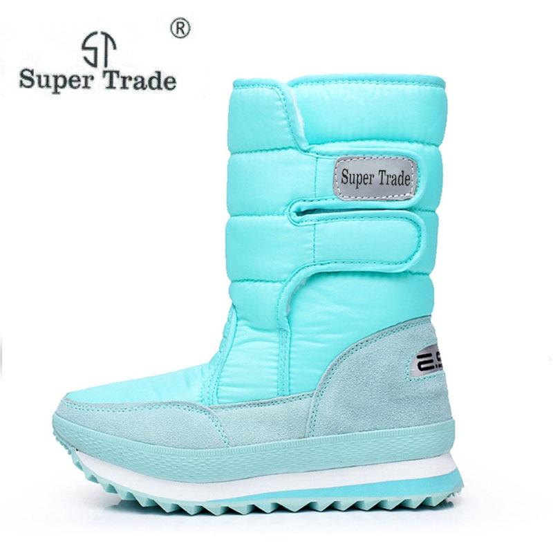 Popular Snow Boots For Women Flat Heel 10 Colors Plus Size Women Winter Boots Waterproof Women Winter Shoes Waterproof dudini waterproof women