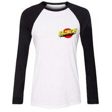 Bazinga Big Bang Theory Sheldon Cooper Vacation Girls T shirt For Women long sleeves Tee Tops Creative Printed Cosplay costume