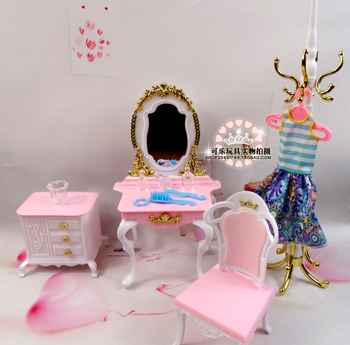 <font><b>original</b></font> hangers for <font><b>barbie</b></font> Kurhn <font><b>casa</b></font> dresser fancy dress 1/6 bjd doll bedroom furniture set mirror house accessories toy gift image